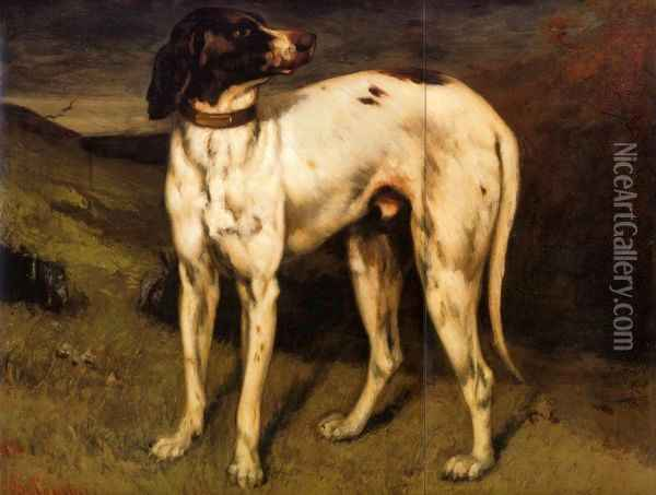A Dog from Ornans Oil Painting - Gustave Courbet