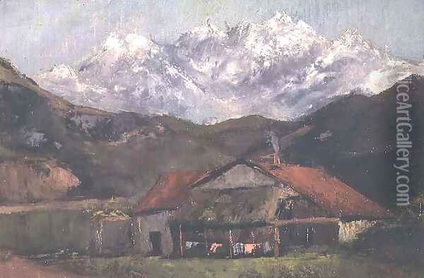 A Hut in the Mountains Oil Painting - Gustave Courbet