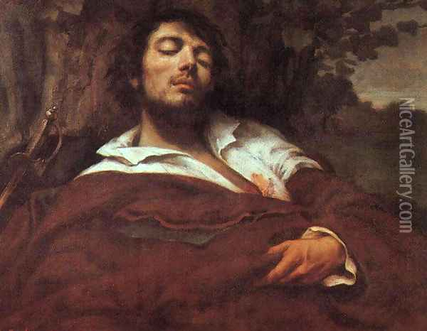 Wounded Man Oil Painting - Gustave Courbet
