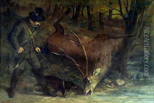 The Death of the Stag, 1859 Oil Painting - Gustave Courbet