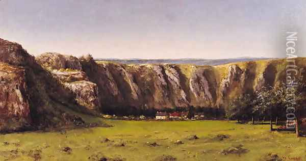 Rocky landscape near Flagey Oil Painting - Gustave Courbet