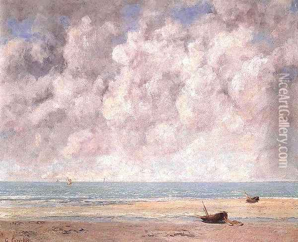 The Calm Sea Oil Painting - Gustave Courbet