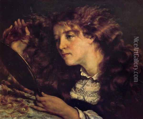Portrait of Jo, the Beautiful Irish Girl Oil Painting - Gustave Courbet
