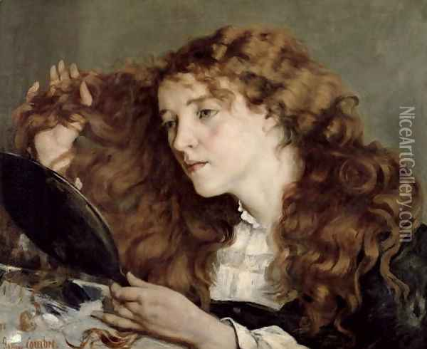 Jo, the Beautiful Irish Girl, 1866 Oil Painting - Gustave Courbet