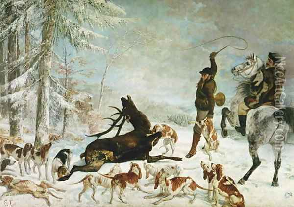 The Death of the Deer, 1867 Oil Painting - Gustave Courbet