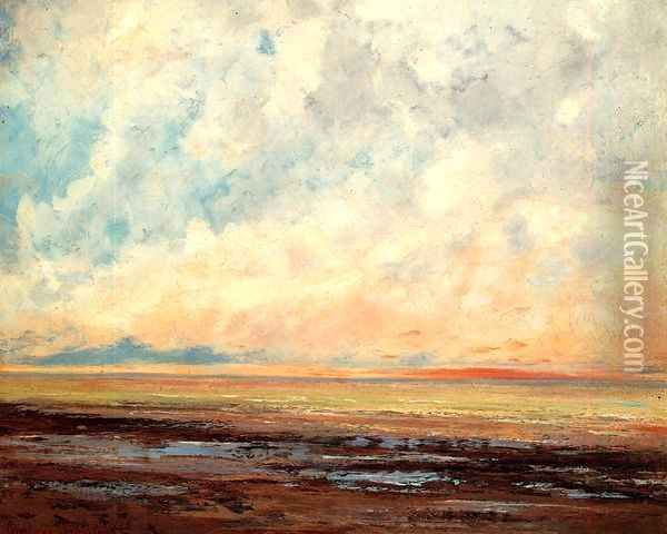 Seascape Oil Painting - Gustave Courbet