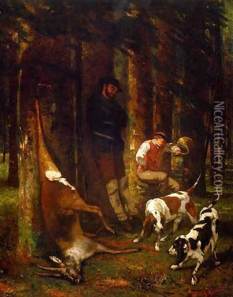 The Quarry Oil Painting - Gustave Courbet
