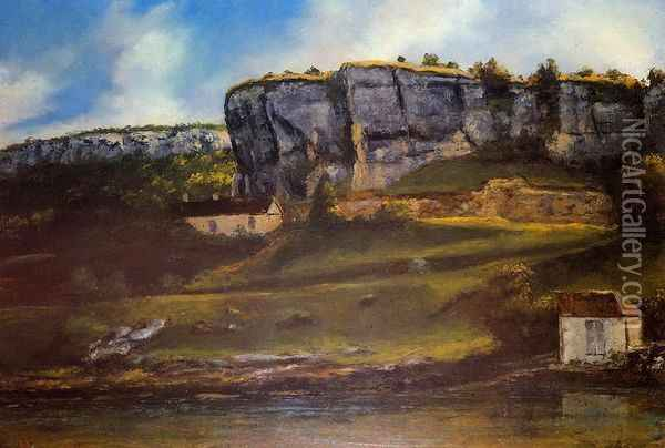 Landscape of the Ornans Region Oil Painting - Gustave Courbet