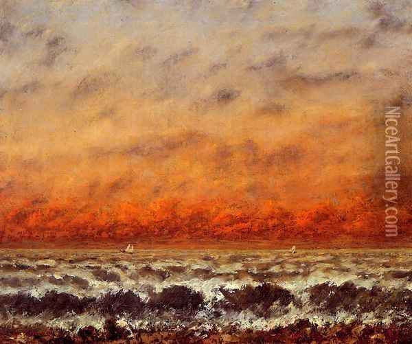 Seascape I Oil Painting - Gustave Courbet