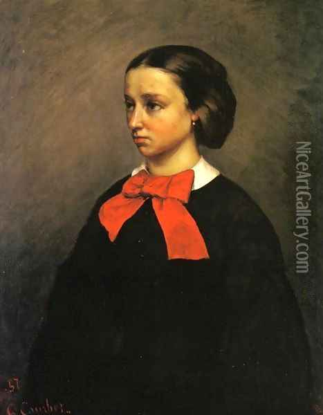 Portrait of Madame Jacquet Oil Painting - Gustave Courbet