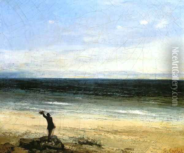 The Beach at Palavas Oil Painting - Gustave Courbet