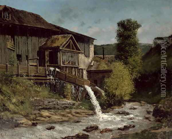 The Sawmill on the River Gauffre Oil Painting - Gustave Courbet