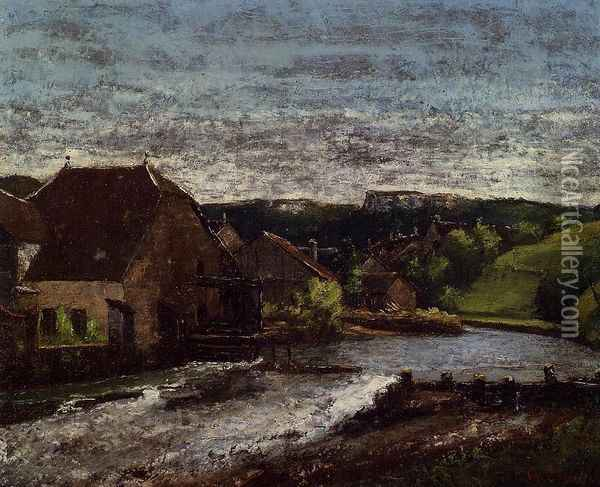 The Loue Valley Oil Painting - Gustave Courbet