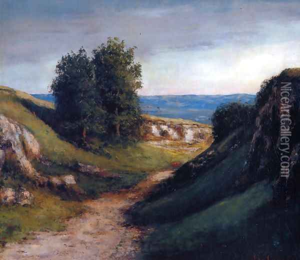 Path to the Sea Oil Painting - Gustave Courbet