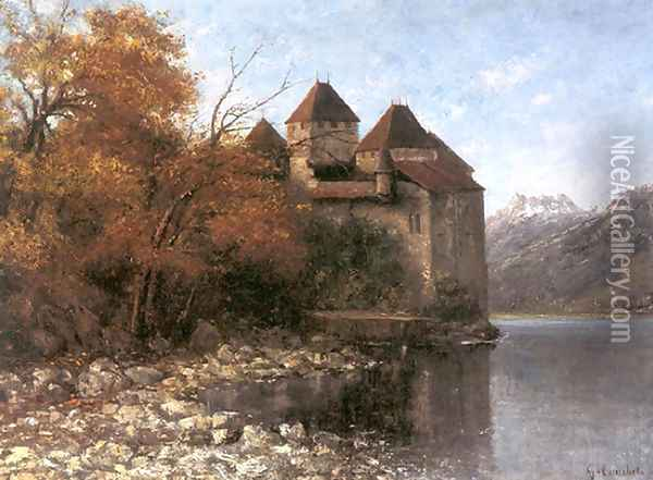 Cháteau de Chillon Oil Painting - Gustave Courbet