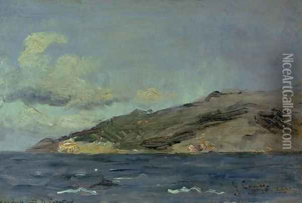 Entrance to the Straits of Gibraltar, 1848 Oil Painting - Gustave Courbet