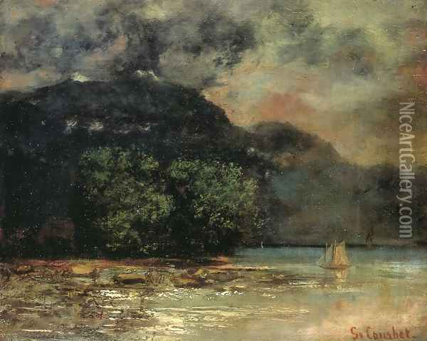 Lake Geneve before the Storm Oil Painting - Gustave Courbet