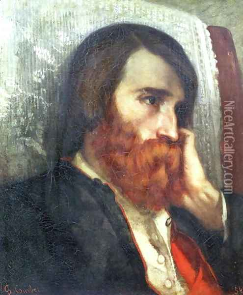 Portrait of Alfred Bruyas Oil Painting - Gustave Courbet