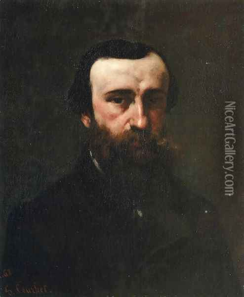 Portrait of Monsieur Nicolle Oil Painting - Gustave Courbet