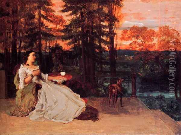 The Lady of Frankfurt Oil Painting - Gustave Courbet