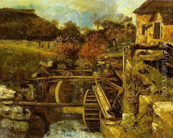 The Ornans Paper Mill Oil Painting - Gustave Courbet
