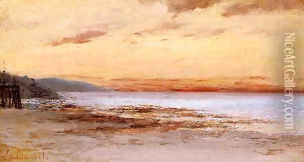 The Beach at Trouville Oil Painting - Gustave Courbet