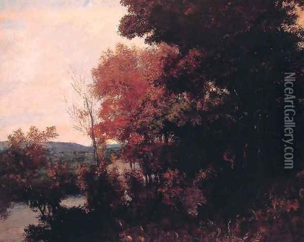 Lisiere de foret Oil Painting - Gustave Courbet