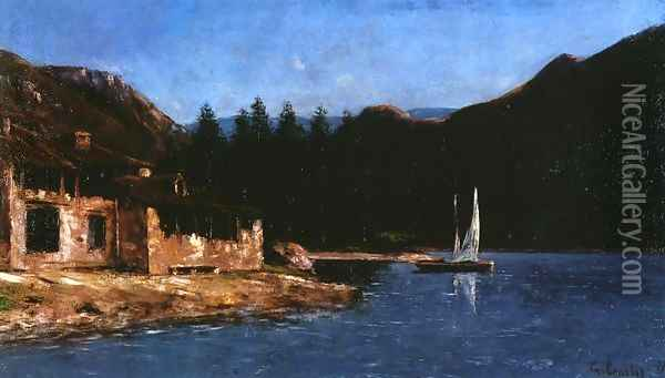 The White Sail Oil Painting - Gustave Courbet