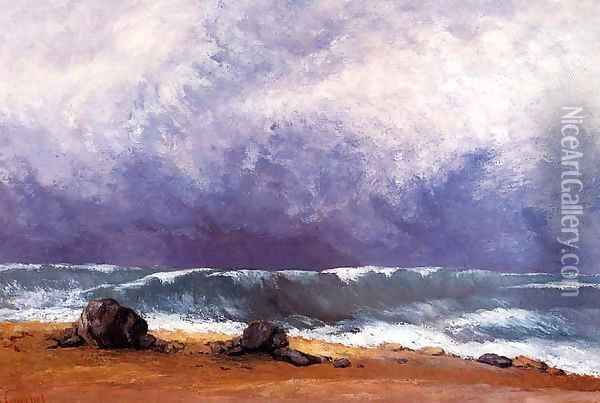 The Wave IV Oil Painting - Gustave Courbet