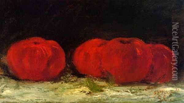 Red Apples Oil Painting - Gustave Courbet
