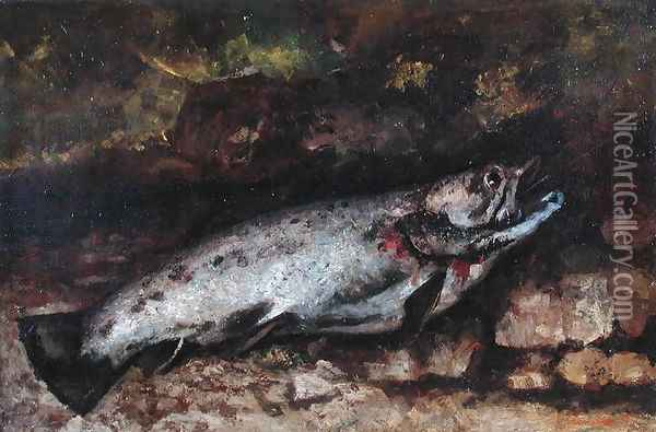 The Trout, 1873 Oil Painting - Gustave Courbet