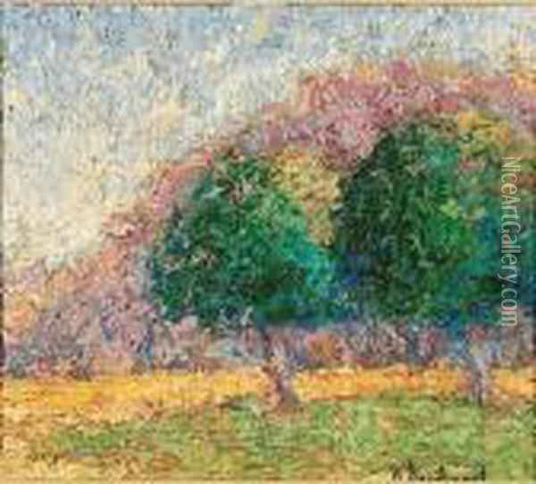 Mountain And Trees Oil Painting - Wynford Dewhurst