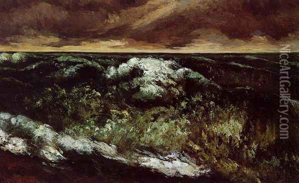 The Angry Sea Oil Painting - Gustave Courbet