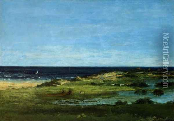 Seacoast Oil Painting - Gustave Courbet