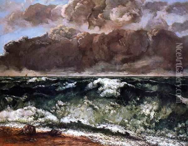 The Wave II Oil Painting - Gustave Courbet