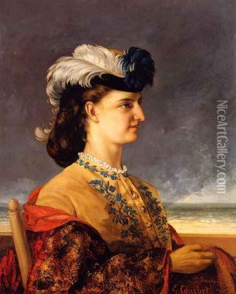 Portrait of Countess Therese Burnswick Oil Painting - Gustave Courbet