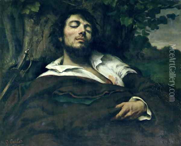 The Wounded Man Oil Painting - Gustave Courbet