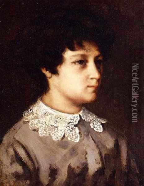 Portrait of a Young Girl from Salins Oil Painting - Gustave Courbet