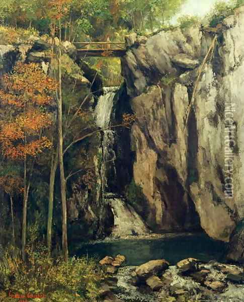 The Chasm at Conches, 1864 Oil Painting - Gustave Courbet
