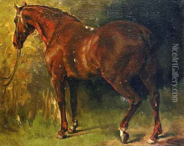 The English Horse of M. Duval Oil Painting - Gustave Courbet