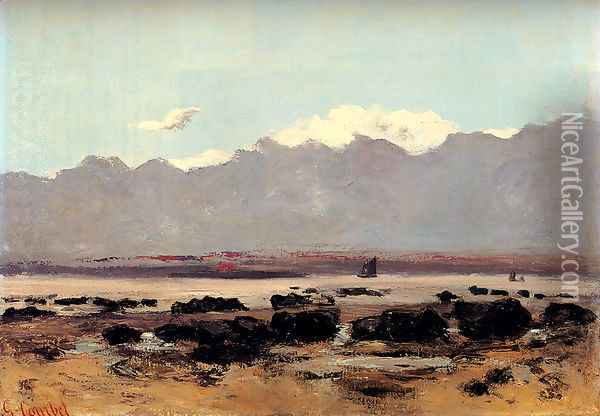 Seascape Near Trouville Oil Painting - Gustave Courbet