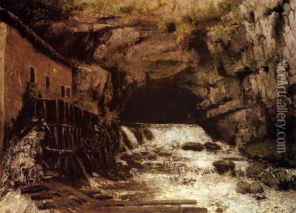 The Source of the Loue I Oil Painting - Gustave Courbet