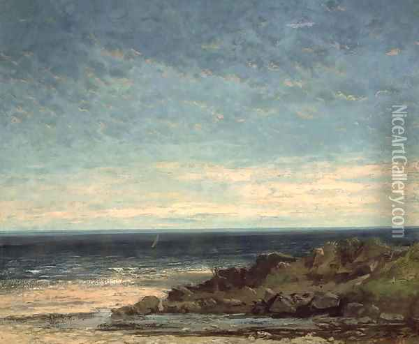 The Sea Oil Painting - Gustave Courbet