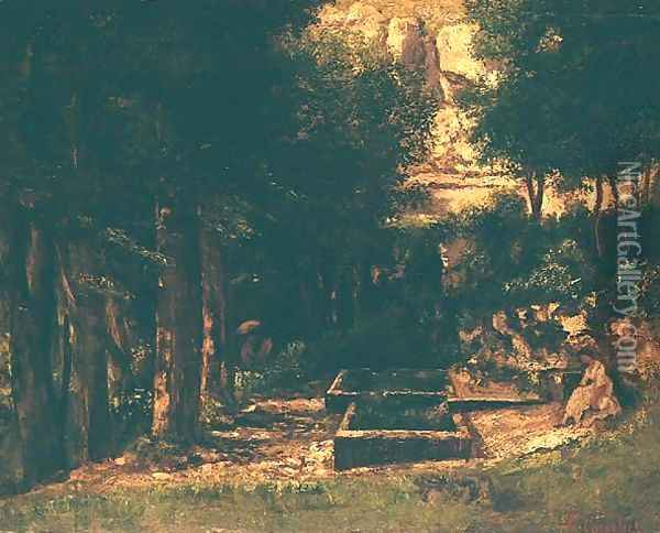 The Fountain Oil Painting - Gustave Courbet