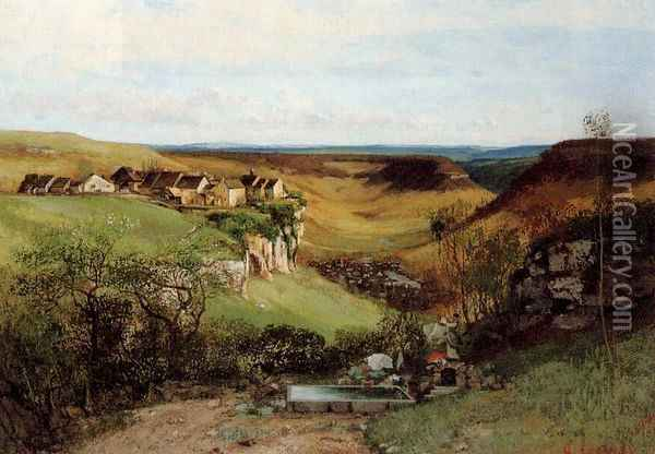 The Chateau d'Ornans Oil Painting - Gustave Courbet