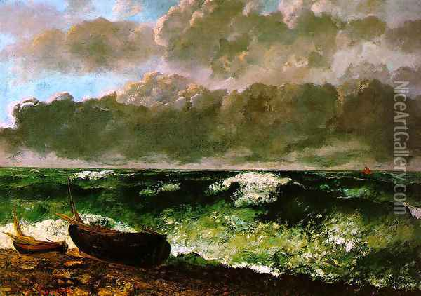 The Stormy Sea or, The Wave, 1870 Oil Painting - Gustave Courbet