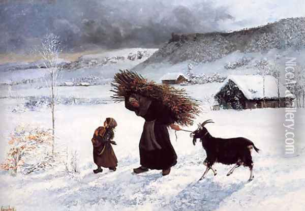 Poor Woman of the Village Oil Painting - Gustave Courbet