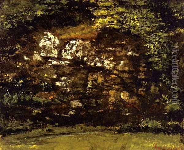 In the Woods Oil Painting - Gustave Courbet