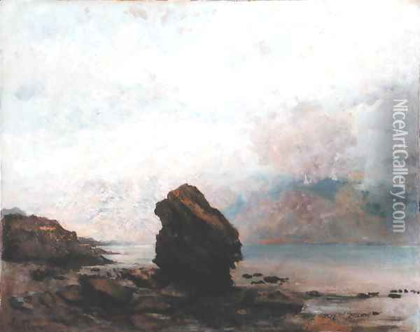 The Isolated Rock, c.1862 Oil Painting - Gustave Courbet