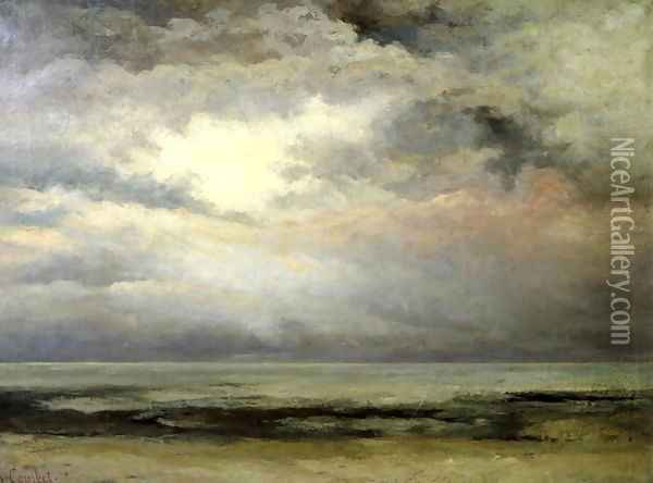 L'Immensite Oil Painting - Gustave Courbet